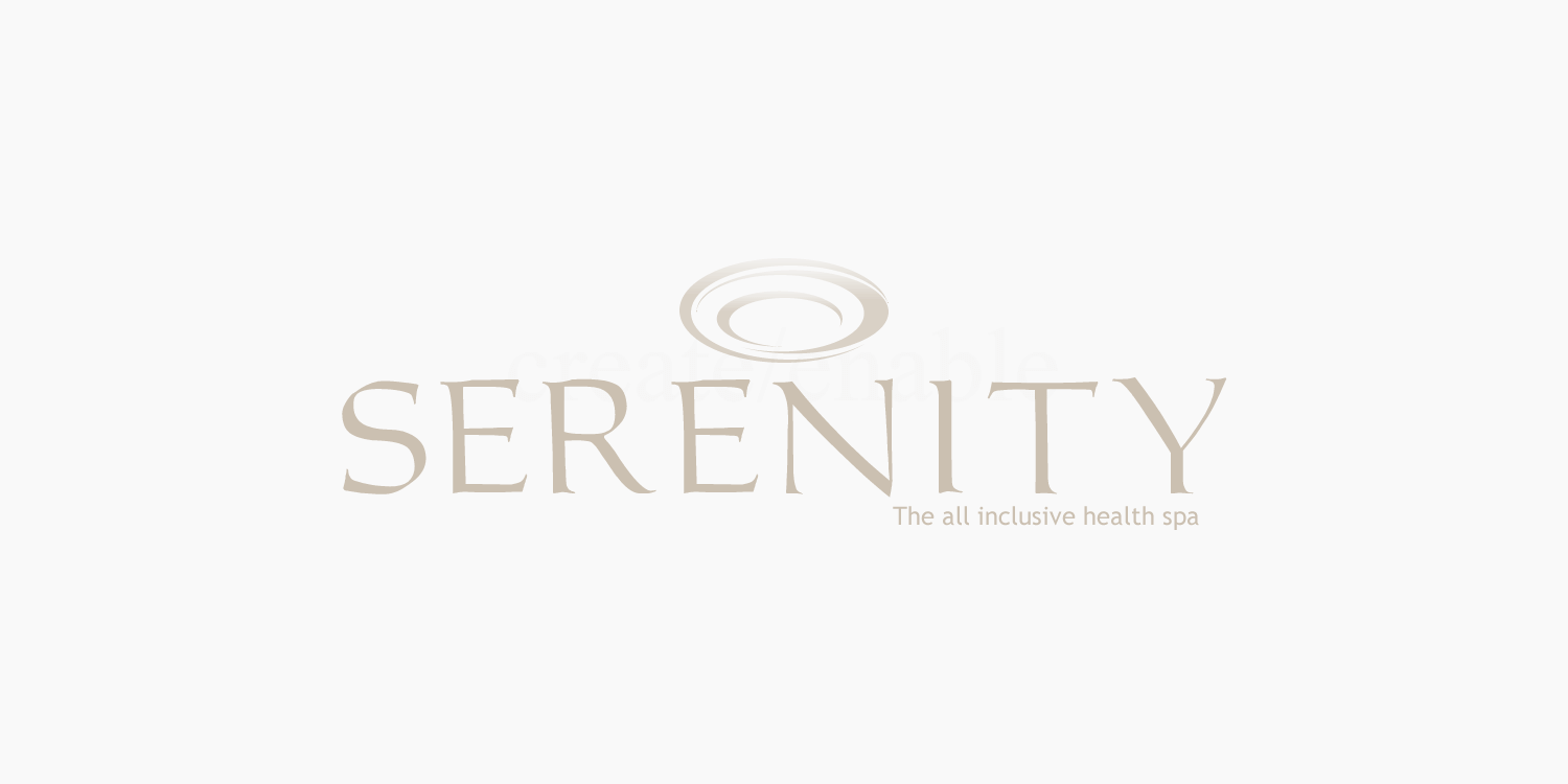Serenity health spa logo design and branding by create-enable