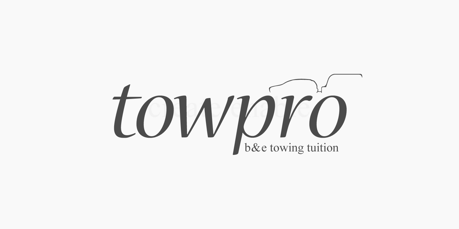 Tow-pro logo design and branding in black by create/enable
